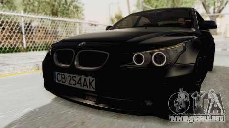 BMW 530D E60 para GTA San Andreas vista posterior izquierda