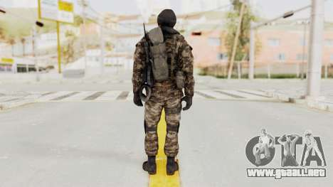 CoD MW3 Russian Military SMG v2 para GTA San Andreas tercera pantalla