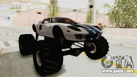 Ford GT 2005 Monster Truck para la visión correcta GTA San Andreas