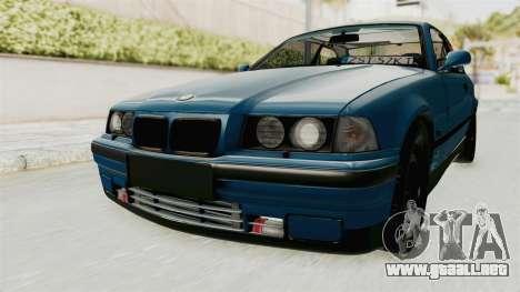 BMW 325i E36 para GTA San Andreas vista posterior izquierda