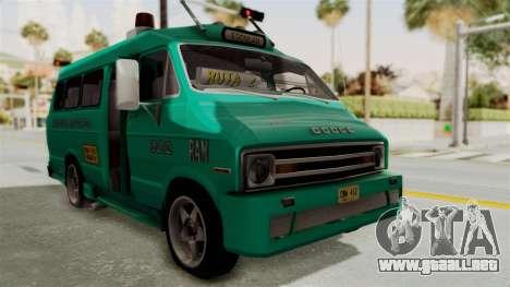 Dodge Ram Van Microbus 1977 para GTA San Andreas
