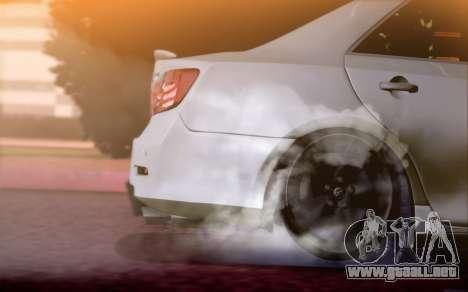 Toyota Camry V6 Sprot Edition para GTA San Andreas vista hacia atrás