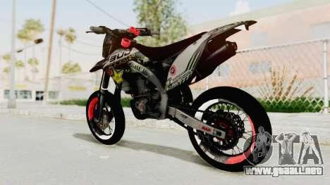 Kawasaki KLX 150S Supermoto para GTA San Andreas left