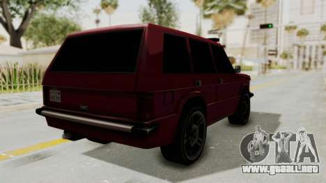 Huntley LR para GTA San Andreas vista posterior izquierda