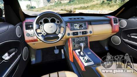 GTA 5 Range Rover Evoque v5.0 vista lateral trasera derecha