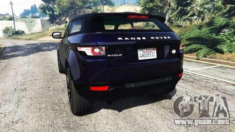 GTA 5 Range Rover Evoque v5.0 vista lateral izquierda trasera