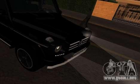 Mercedes G55 Kompressor para GTA San Andreas vista hacia atrás