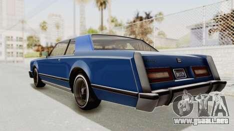 GTA 5 Dundreary Virgo Classic Custom v1 IVF para GTA San Andreas left