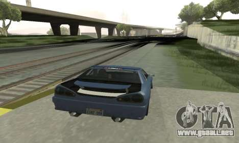 Estándar Elegía con un alerón retráctil para la visión correcta GTA San Andreas