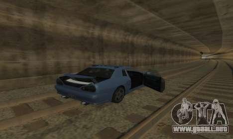 Estándar Elegía con un alerón retráctil para la vista superior GTA San Andreas