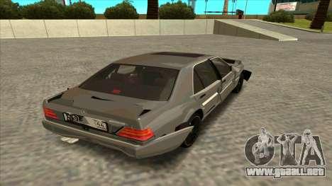 Mercedez-Benz W140 para visión interna GTA San Andreas
