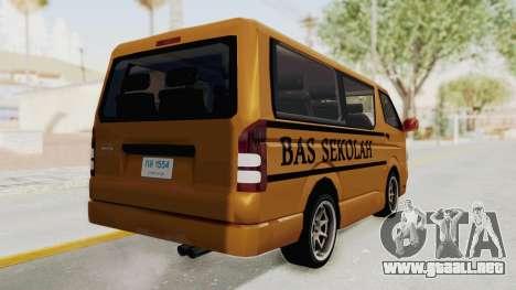 Toyota Hiace School Bus para GTA San Andreas left