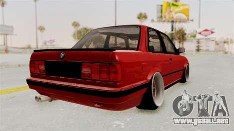 BMW M3 E30 Camber Low para la visión correcta GTA San Andreas