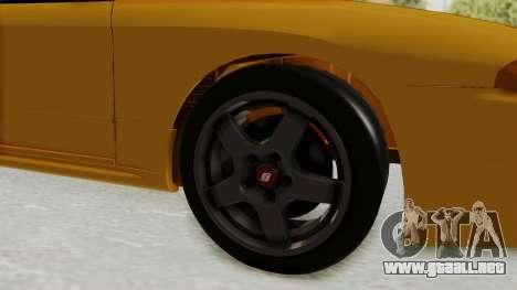 Nissan Skyline R32 4 Door Taxi para GTA San Andreas vista hacia atrás