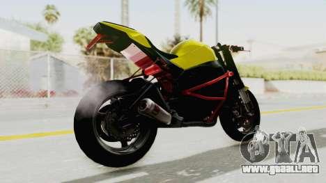 Kawasaki Ninja ZX-10R Nakedbike Stunter para GTA San Andreas left