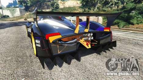 GTA 5 Pagani Zonda R v1.1 vista lateral izquierda trasera
