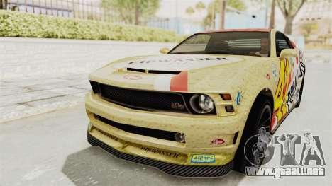 GTA 5 Vapid Dominator v2 SA Style para GTA San Andreas interior