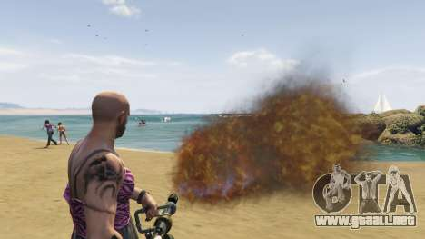 GTA 5 Real Flamethrower 1.5 séptima captura de pantalla