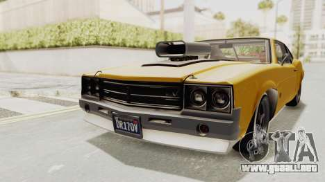 GTA 5 Declasse Sabre GT2 B IVF para GTA San Andreas vista posterior izquierda