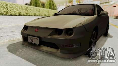 Acura Integra Fast N Furious para la visión correcta GTA San Andreas