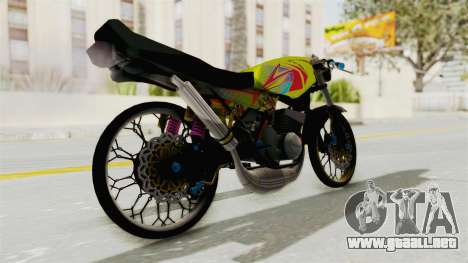 Yamaha RX King 200 CC Killing Ninja para GTA San Andreas left