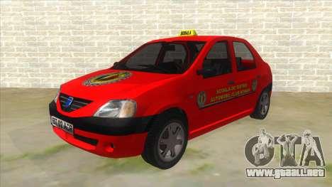 Dacia Logan Scoala para GTA San Andreas
