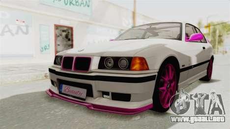BMW M3 E36 Beauty para GTA San Andreas vista posterior izquierda