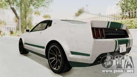 GTA 5 Vapid Dominator v2 SA Style para GTA San Andreas left