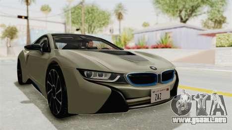 BMW i8-VS 2015 para la visión correcta GTA San Andreas