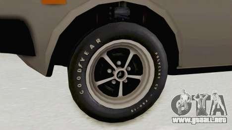 Fiat 131 Supermirafiori para GTA San Andreas vista hacia atrás