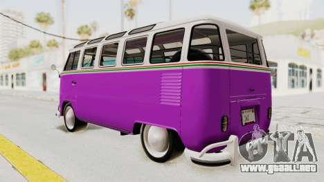 Volkswagen T1 Station Wagon De Luxe Type2 1963 para GTA San Andreas left