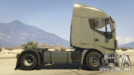 GTA 5 Iveco Stralis HI-WAY vista lateral izquierda