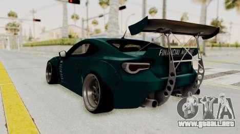 Scion FRS Rocket Bunny Killagram v1.0 para la visión correcta GTA San Andreas