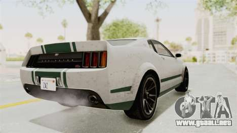 GTA 5 Vapid Dominator v2 SA Style para GTA San Andreas vista posterior izquierda
