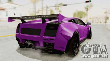 Lamborghini Gallardo 2015 Liberty Walk LB para GTA San Andreas left