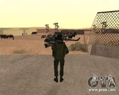 Las fuerzas especiales de la Federación de rusia para GTA San Andreas sucesivamente de pantalla