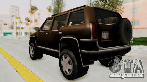 Landstalker from GTA 3 para GTA San Andreas left