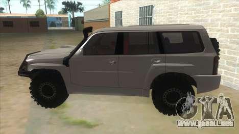 Nissan Patrol Y61 para GTA San Andreas left