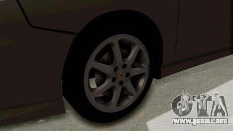 Acura Integra Fast N Furious para GTA San Andreas vista hacia atrás