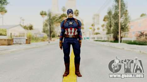 Captain America Civil War - Captain America para GTA San Andreas segunda pantalla