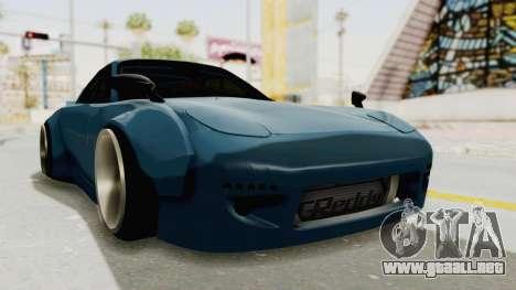 Mazda RX-7 FD3S Rocket Bunny v2 para la visión correcta GTA San Andreas