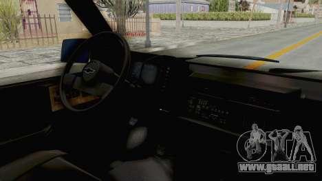 Chevrolet Astro 1988 para la visión correcta GTA San Andreas