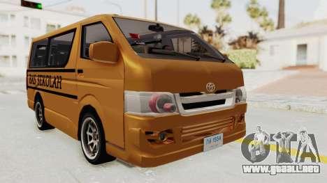 Toyota Hiace School Bus para GTA San Andreas