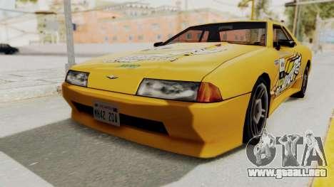 Dewbauchee Elegy para GTA San Andreas vista posterior izquierda