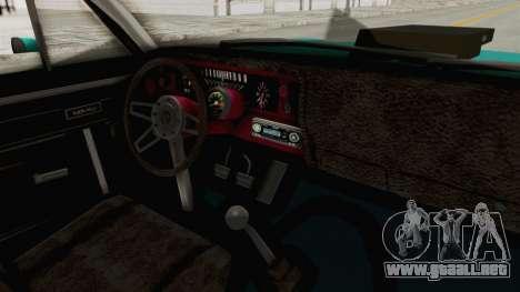 Chevy Nova 454 para visión interna GTA San Andreas