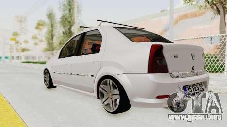 Dacia Logan 2013 para GTA San Andreas left