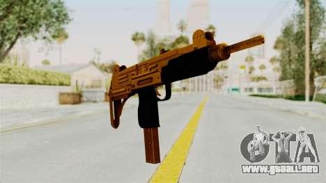 Uzi Gold para GTA San Andreas segunda pantalla