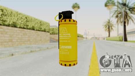 Tear Gas Gold para GTA San Andreas segunda pantalla