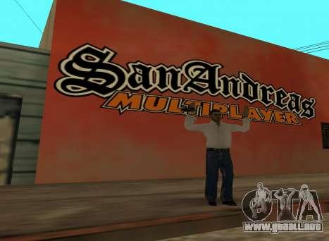 San Andreas Multiplayer Graffiti para GTA San Andreas segunda pantalla