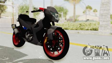 Satria FU 150 Modif FU 250 Superbike para la visión correcta GTA San Andreas